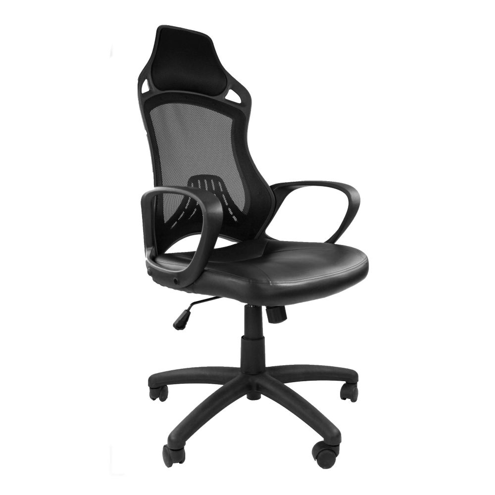 Ascot High Mesh Backrest. Task and Operator Chair, Black, Integrated Headrest